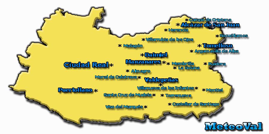 Meteoval la meteorolog a de valdepe as y su comarca - Plano de ciudad real ...
